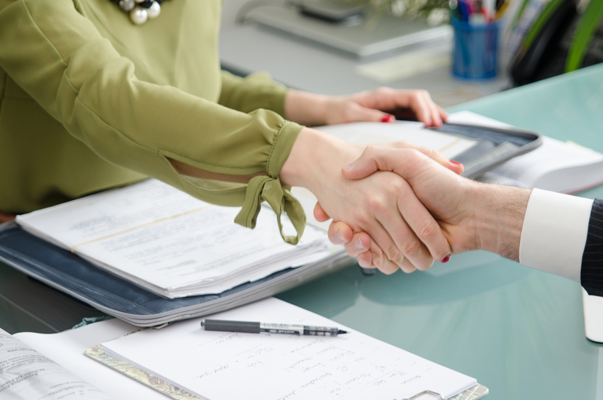 Hand for a handshake. The conclusion of the transaction.